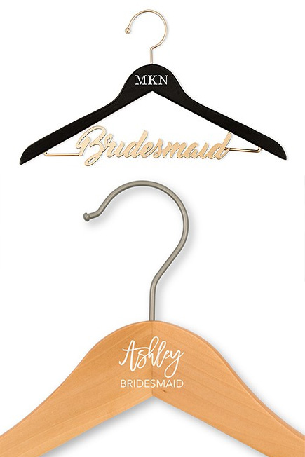 Personalised Bridesmaid Clothes Hangers   Confetti.co.uk