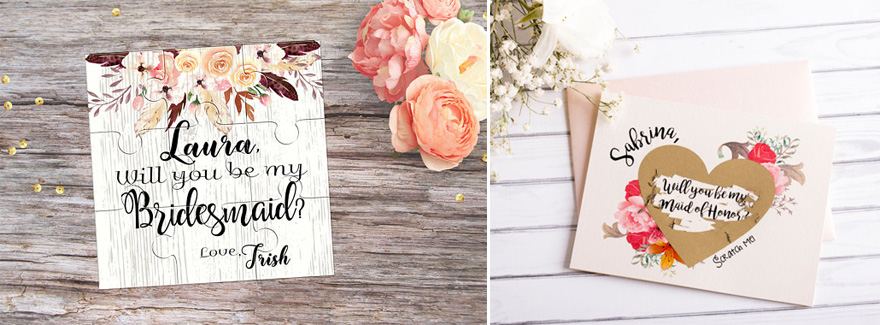 Will You Be My Bridesmaid Bag Scratch Card and Jigsaw Puzzle   Confetti.co.uk