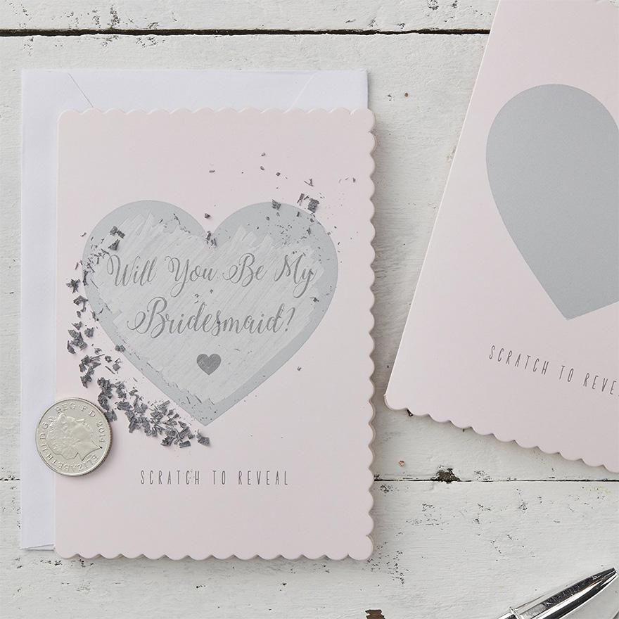 Will You Be My Bridesmaid Scratch Cards   Confetti.co.uk