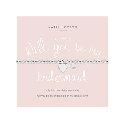 Will You Be My Bridesmaid Silver Bracelet With Heart Charm   Confetti.co.uk