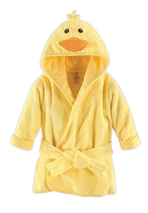 Yellow Duck Hooded Bathrobe and Dressing Gown   Confetti.co.uk