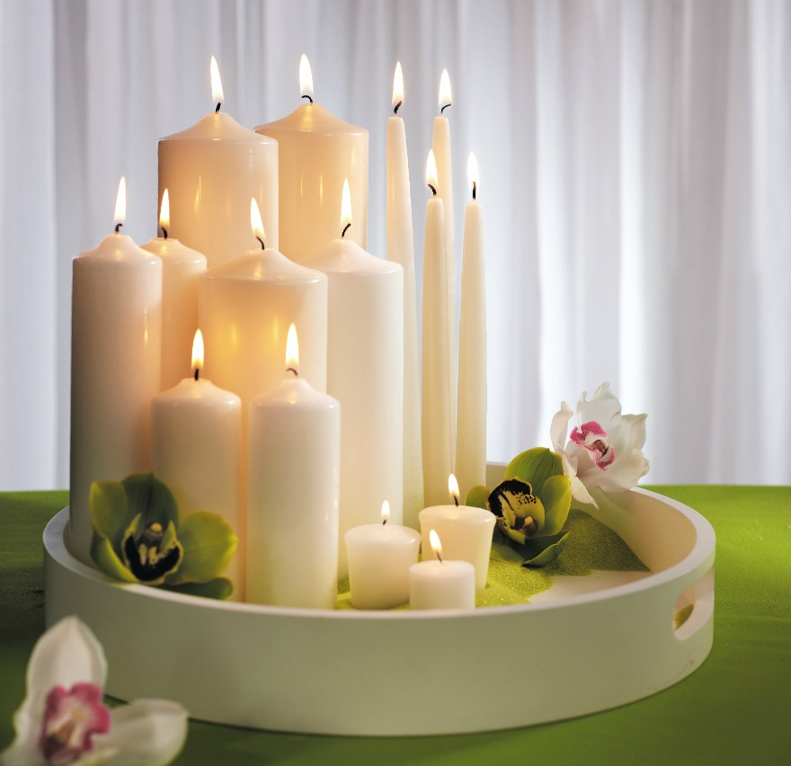 Assorted candles and lighting   Confetti.co.uk