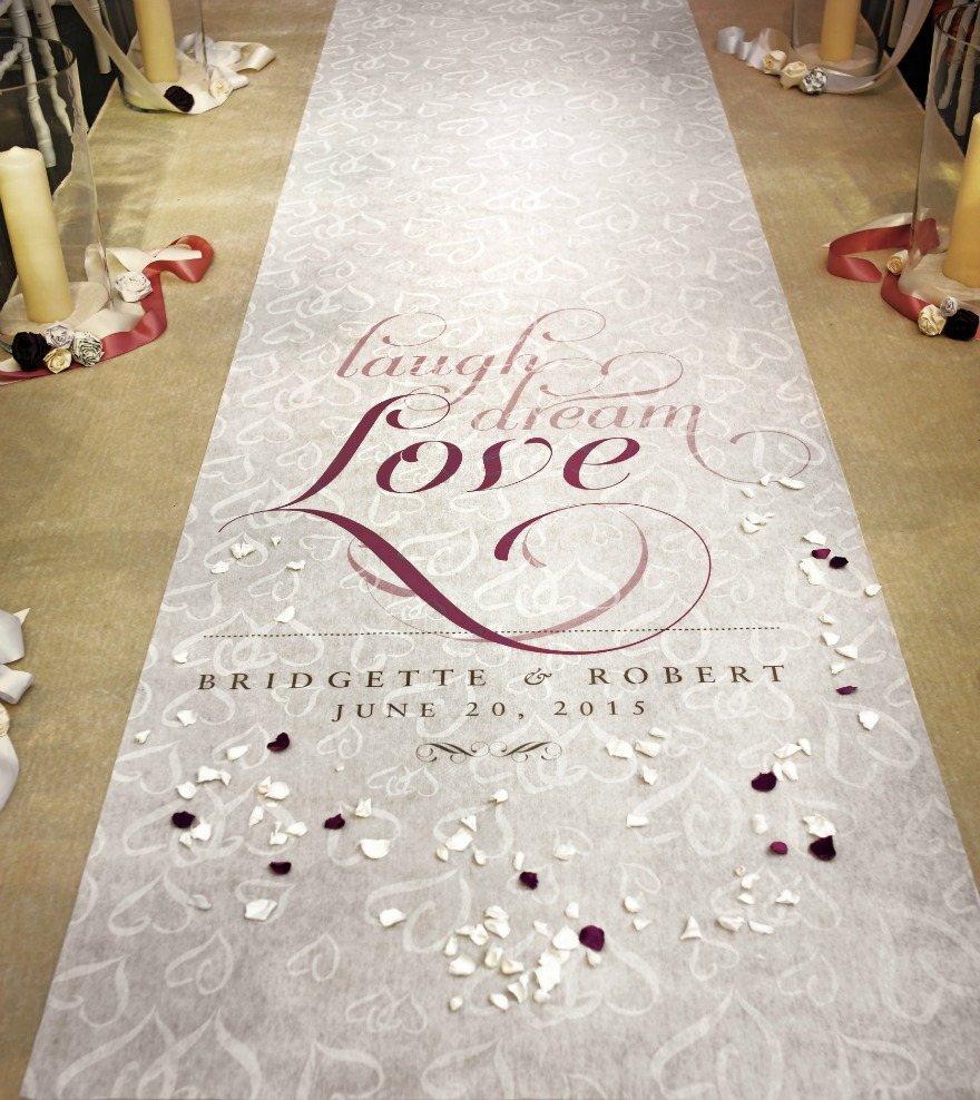Aisle runner personalised wedding items for your wedding | Confetti.co.uk