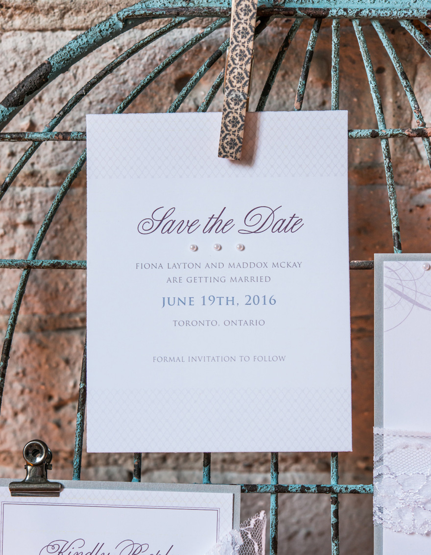 Contemporary Vintage Save The Date Card | Confetti.co.uk