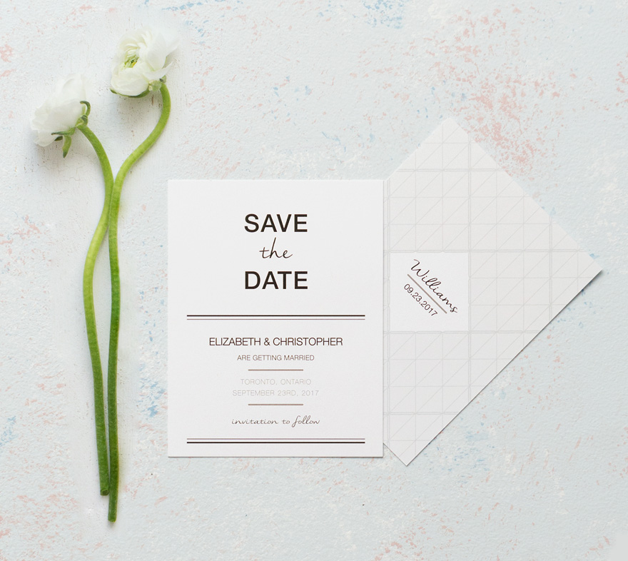 Modern Contemporary City Style Save The Date Card | Confetti.co.uk