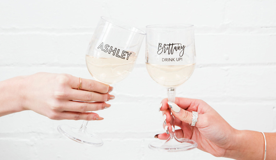 Personalised Magnetic Travel Wine Glass - Portable Nesting Wine Glass | Confetti.co.uk