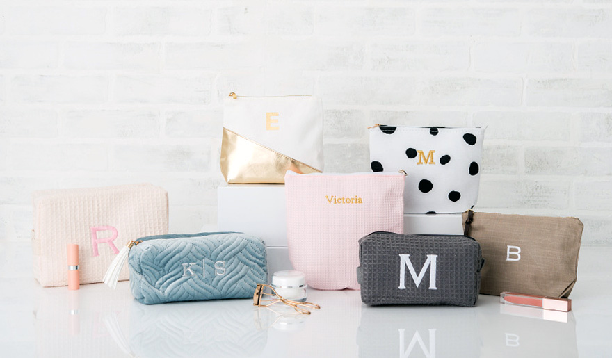 Pretty Personalised Pastel Make Up Bags and Cosmetic Bags | Confetti.co.uk
