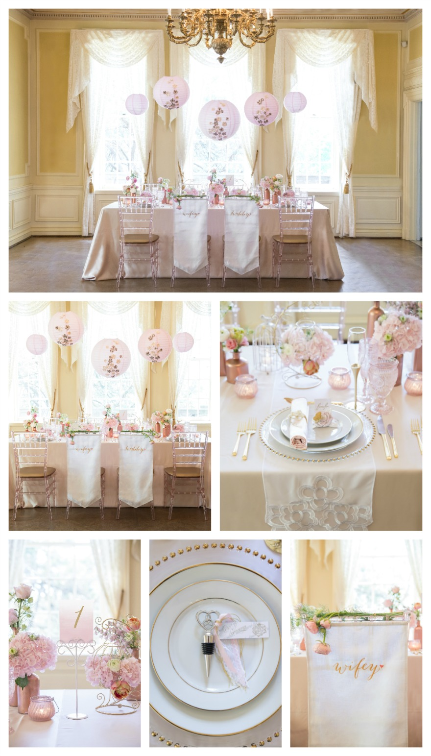 Classic wedding table decorations and chair decor   Confetti.co.uk