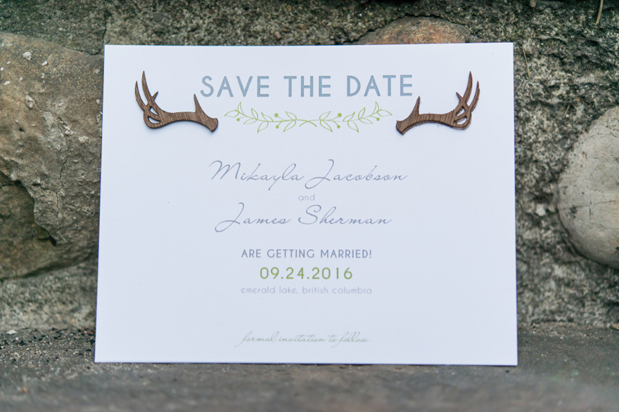 Woodland Pretty Nature Inspired Save The Date Card | Confetti.co.uk