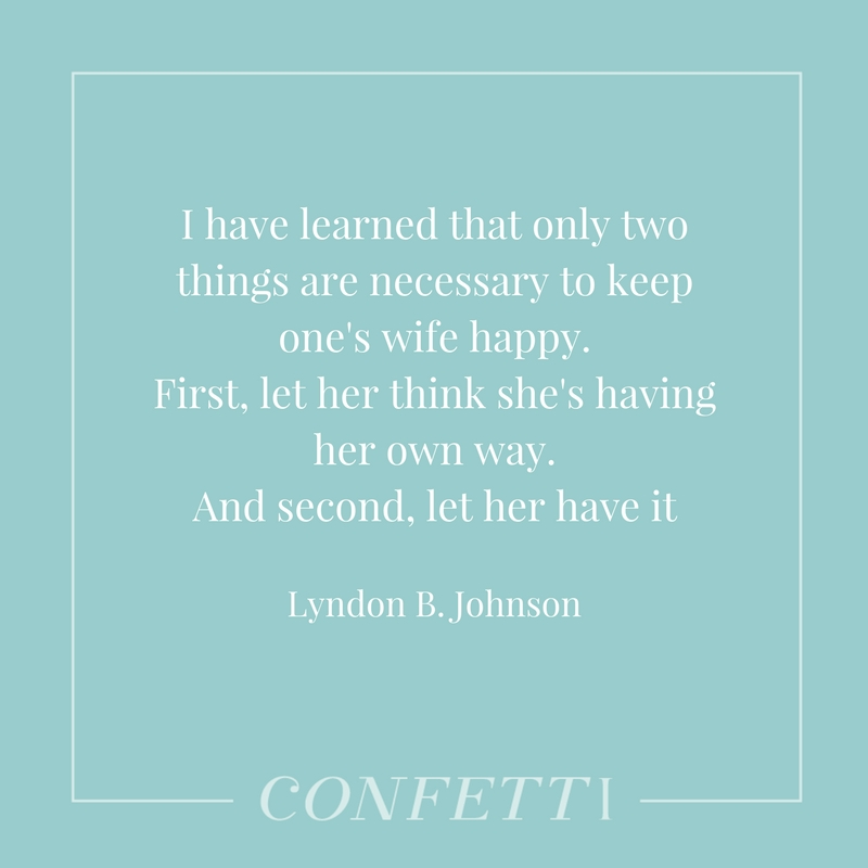 Marriage quote from Lyndon B Johnson