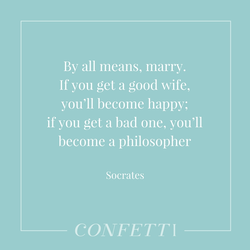Socrates quote about marriage
