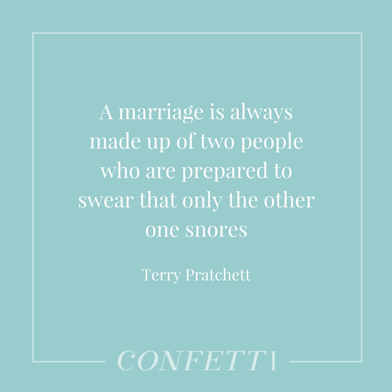 Terry Pratchett quote about marriage