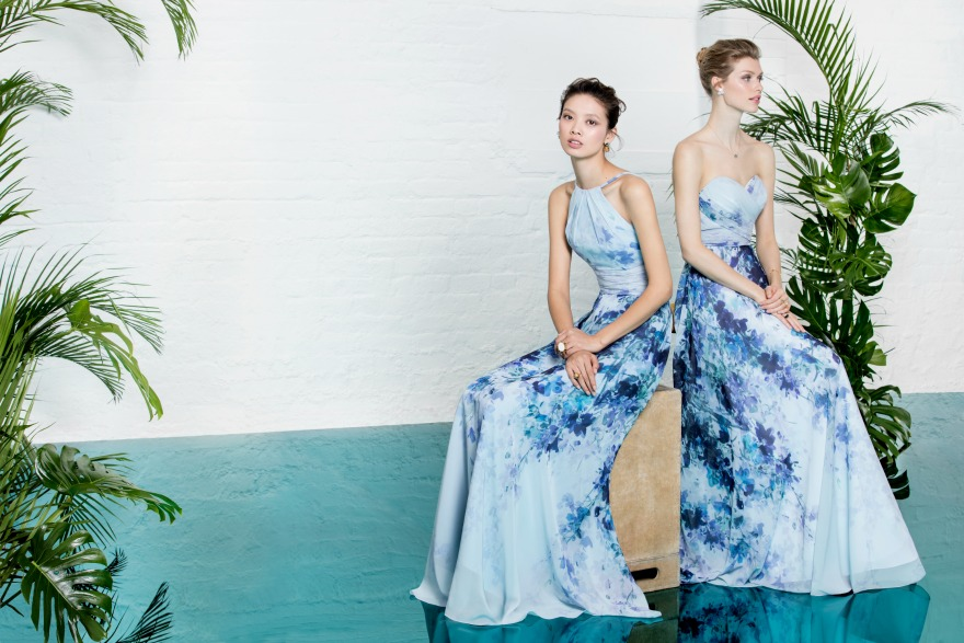 Blue bridesmaid dresses by Kelsey Rose   Confetti.co.uk