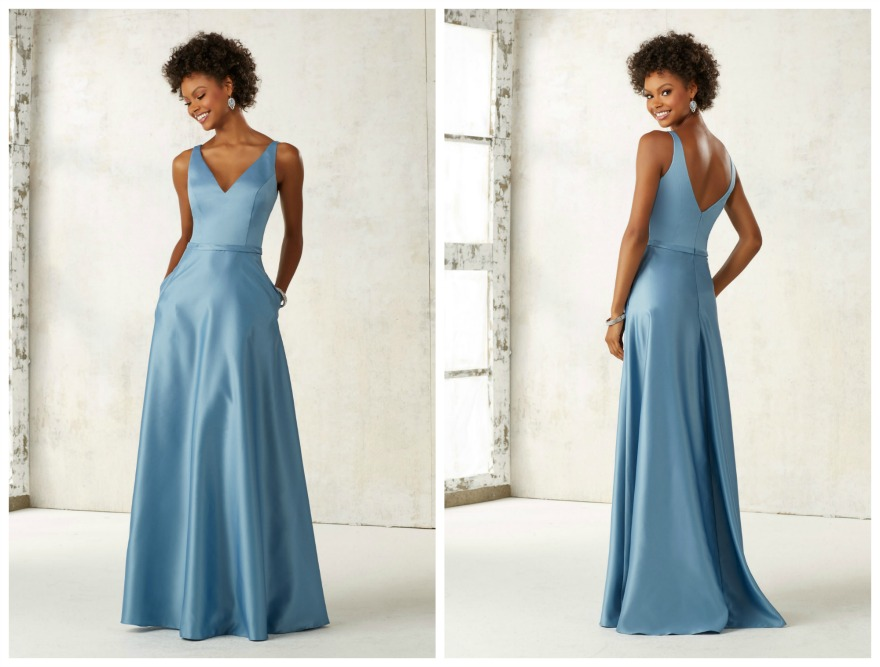Blue bridesmaid dresses by Morilee   Confetti.co.uk