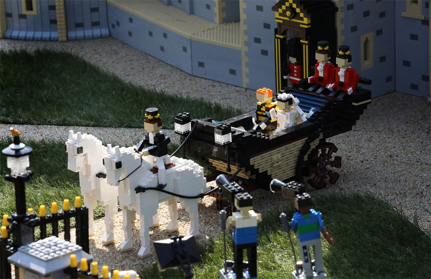 LEGO Horses and Carriage - Ascot Landau Carriage for the Royal Wedding as Part of the LEGO Windsor Castle Model | Confetti.co.uk