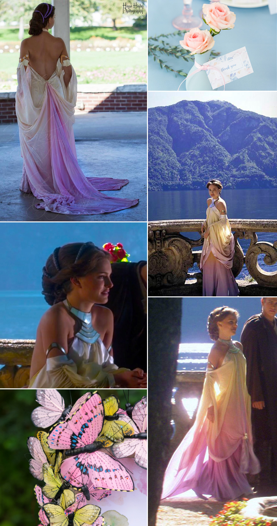 Padme Amidala Rainbow Dress - Padme's Naboo Lake Colourful Dress - Padme Amidala Lake Gown Cosplay from Star Wars Episode II: Attack of the Clones by FabricPuddles on Etsy | Confetti.co.uk