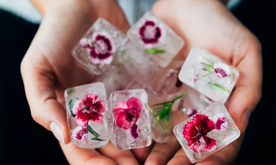 Rose-Infused Ice Cubes - Beautiful Flower Ice Cubes | Confetti.co.uk