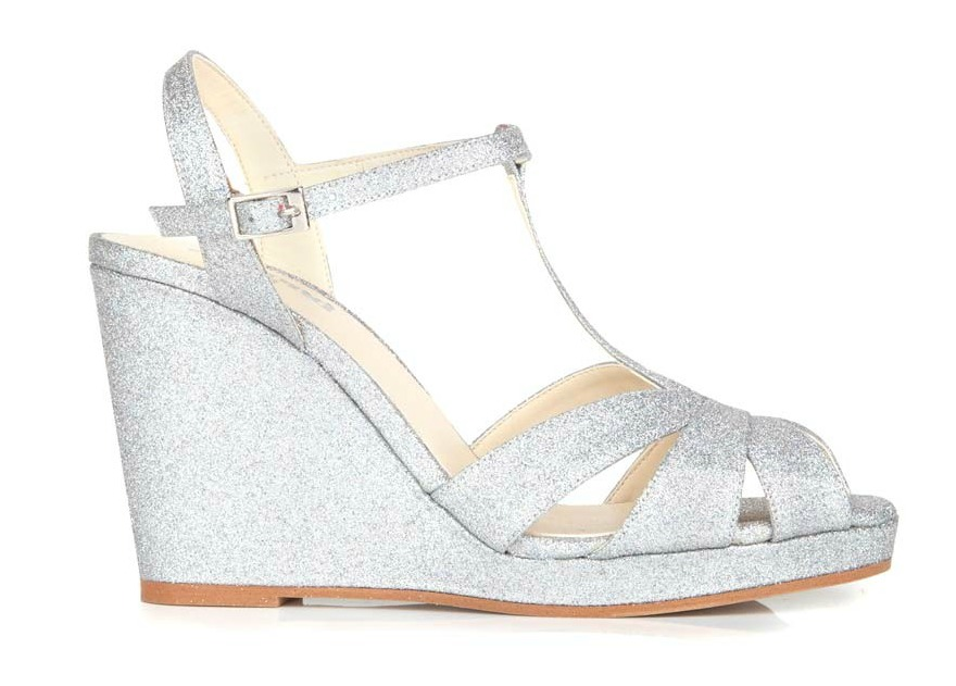 Silver bridesmaid shoes Angelica by Beyond Skin | Confetti.co.uk