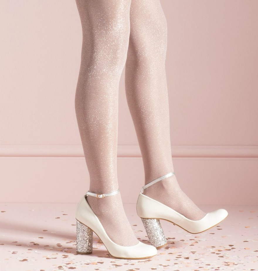 Silver bridesmaid shoes Eve by Charlotte Mills | Confetti.co.uk