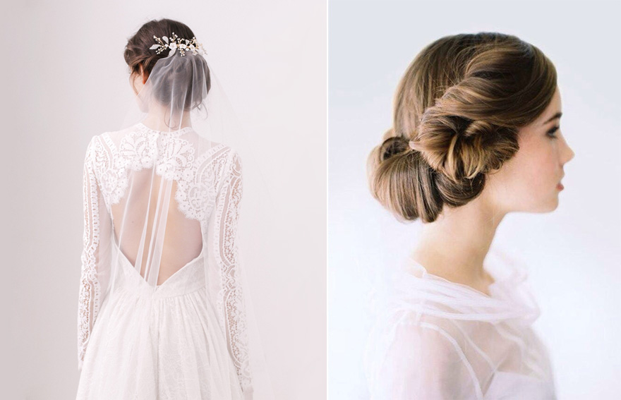 """Stars Wars Inspired Bridal Hair - Skylar """"Barely There"""" Wedding Veil from Britten Weddings and Natural Bridal Updo from OnceWed with Tec Petaja Photography 