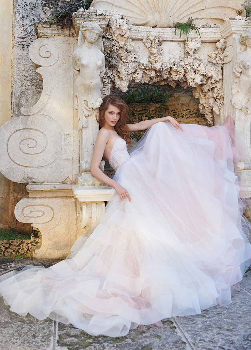 Strapless Corset Sherbet Tulle Ball Gown - Style 2510 by Tara Keely from the Spring 2015 Collection | Confetti.co.uk