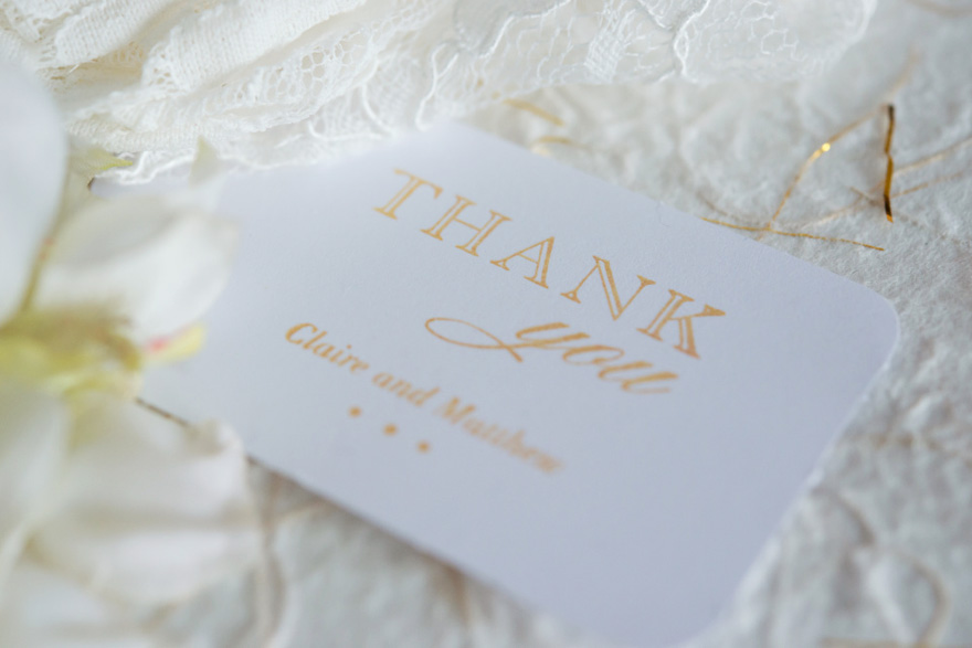 Thank You Notes - A Guide on What to Write in a Thank You Card - Burlap Chic Thank You Personalised Rubber Stamp   Confetti.co.uk