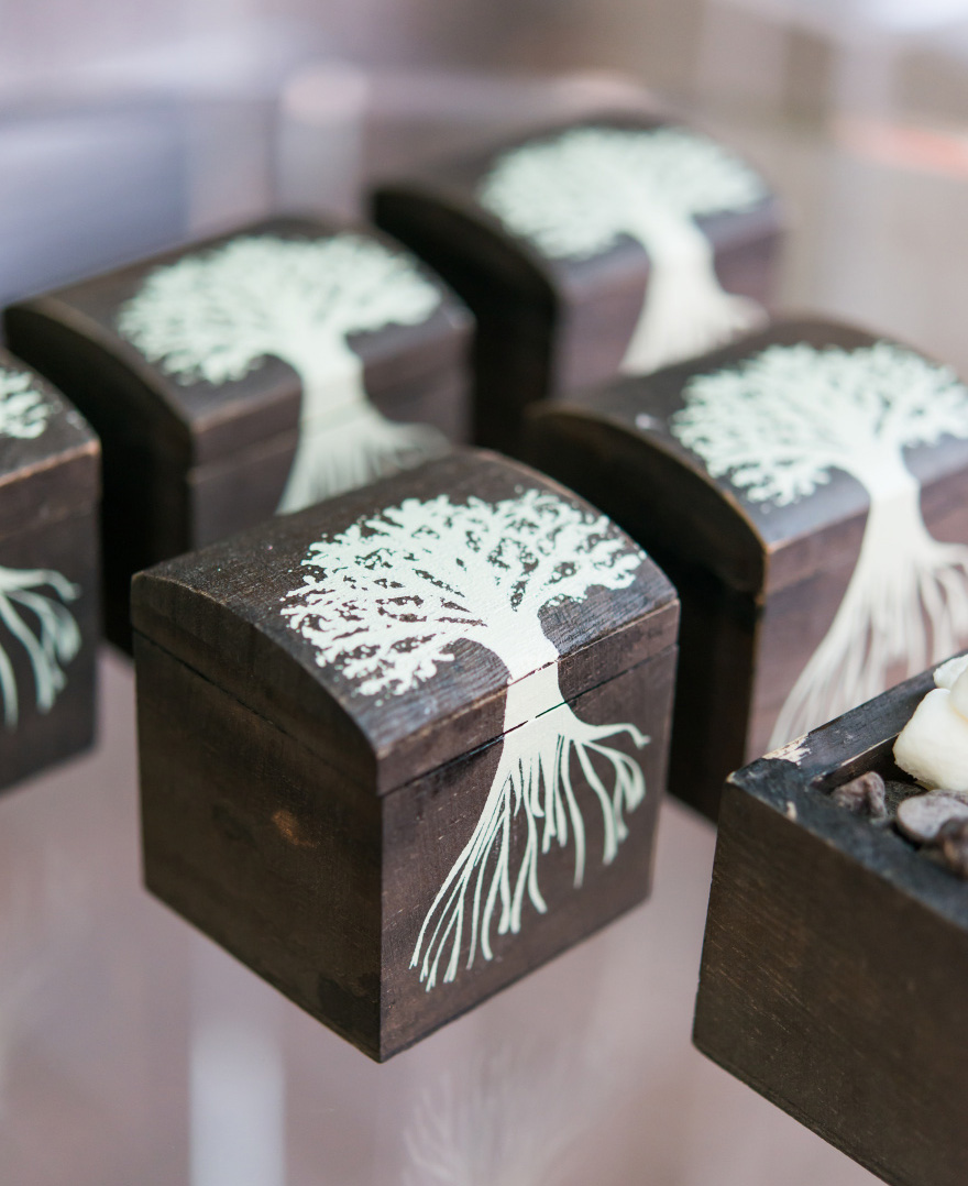 Mini Wooden Box with Lid - Exclusive Tree Design - Woodland Wedding Favour Boxes - Tree Design Favour Boxes   Confetti.co.uk