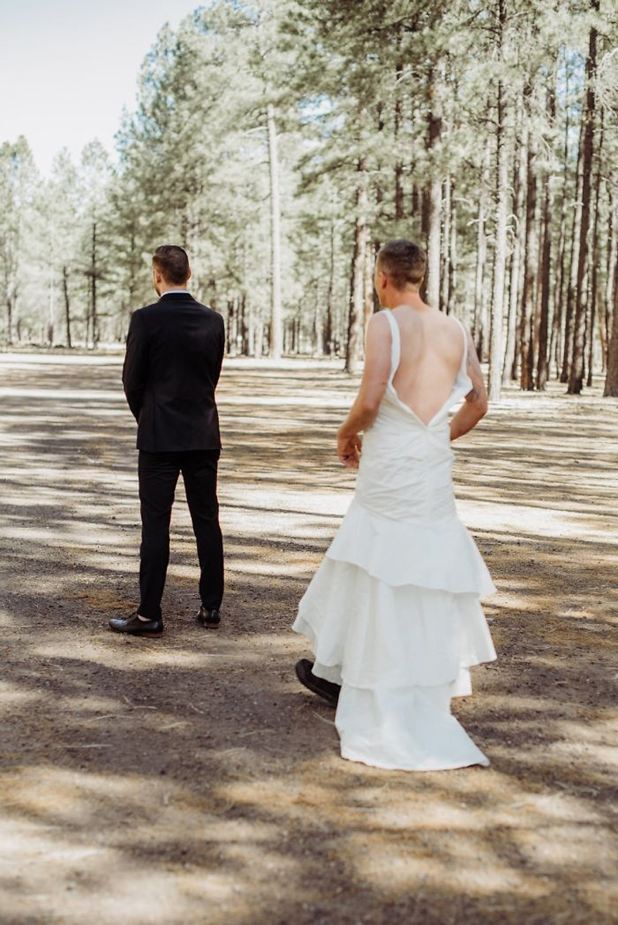 Bride Pranks Groom by Sending Brother to First Look Instead of Her | Confetti.co.uk