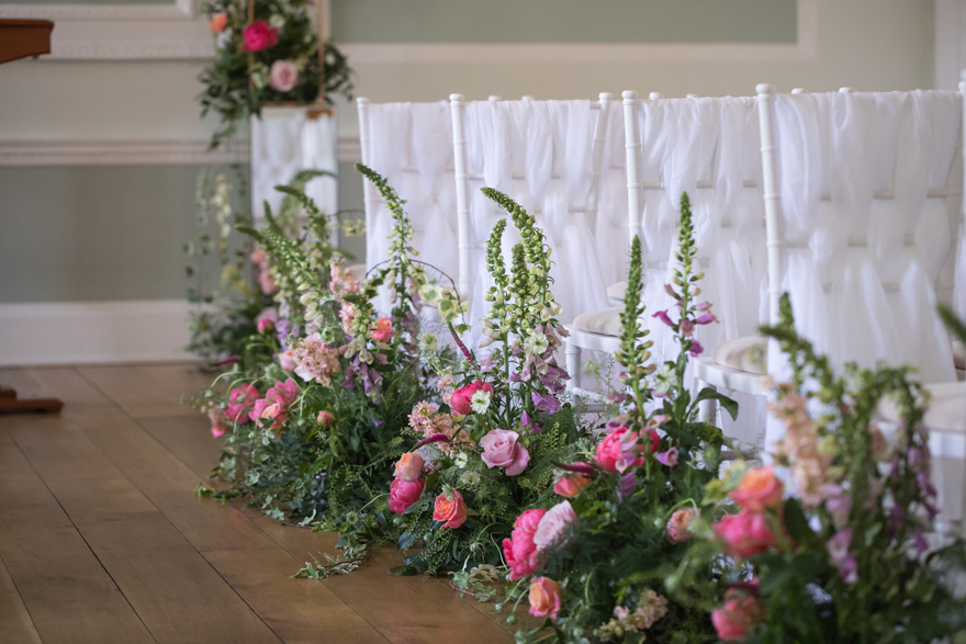 Floral Aisle Markers - Summer Florals - Summer Wedding Ceremony Decor | Confetti.co.uk