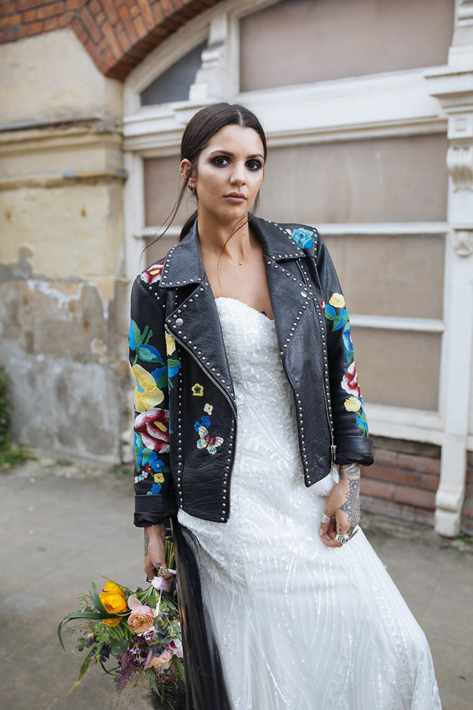 Love Island Darylle in leather jacket