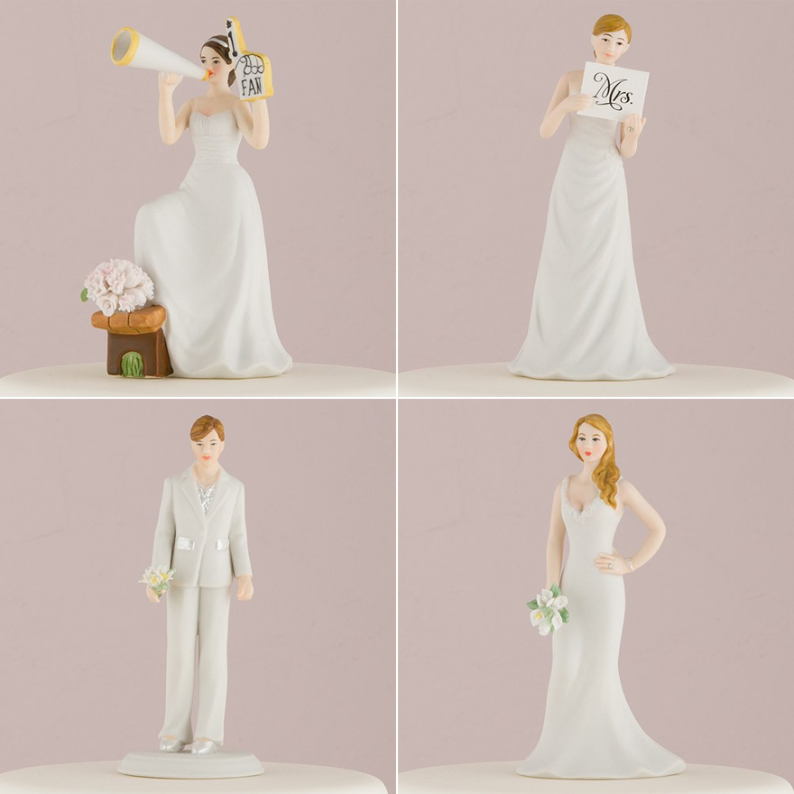 Mix and Match Bride Cake Toppers   Confetti.co.uk