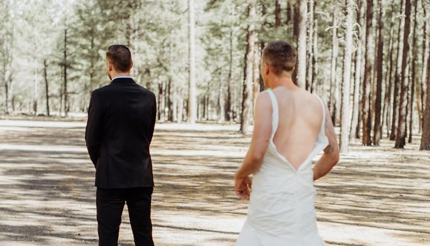This Bride Pranked Her Groom by Sending Her Brother For the First Look In Her Place Thumbnail | Confetti.co.uk