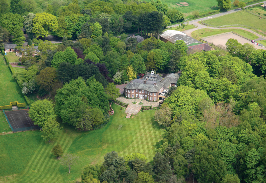Delamere Manor Aeriel View - You Can Get Married at Gary Barlow's Old Country House   Confetti.co.uk