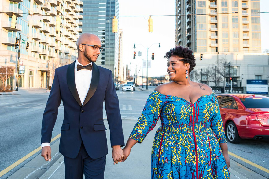 Georgia Engagement Session by LaJoy Photography - Bride with Tattoo - Brides of Colour with Tattoos | Confetti.co.uk