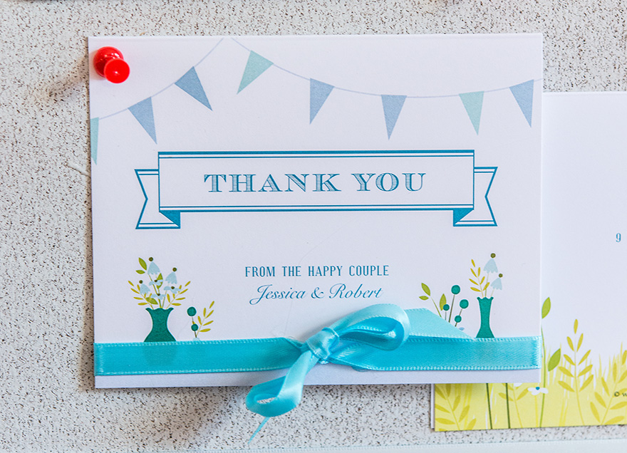 Homespun Charm Colourful Country Rustic Thank You Card | Confetti.co.uk