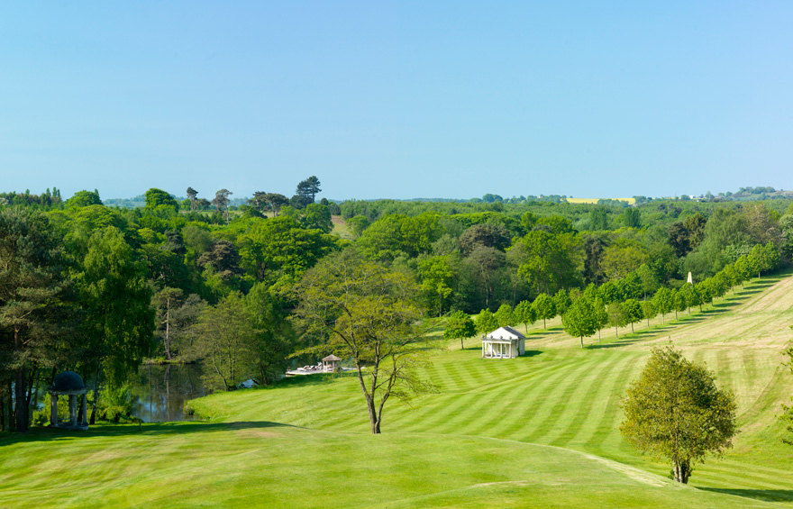 View from Delamere Manor - Beautiful Cheshire Wedding Venues with Garden Folly   Confetti.co.uk