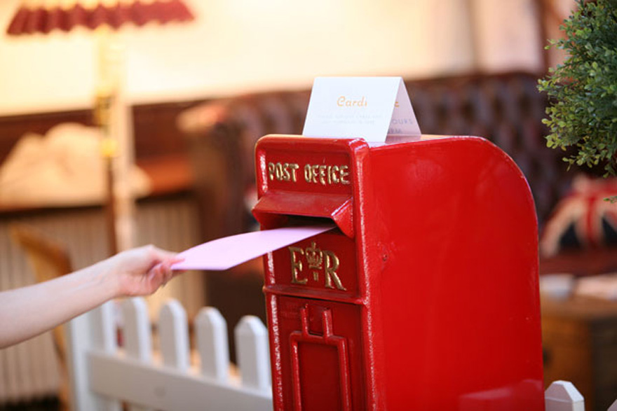 Post Office Post Boxes - Vicky and Martin's Amazing Vintage Tea Party in Brighton by Theme-Works Weddings   Confetti.co.uk