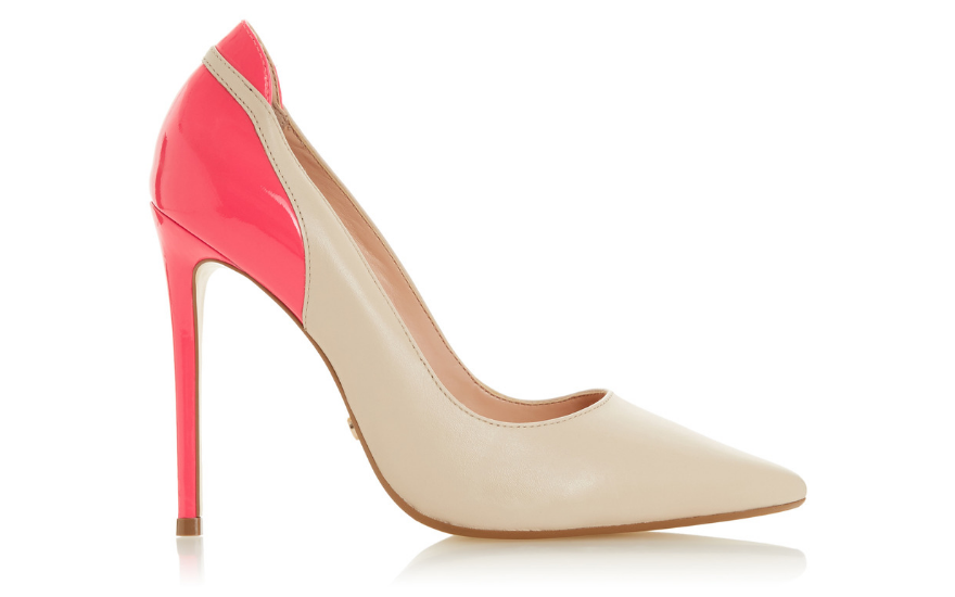 pink and nude wedding court shoes