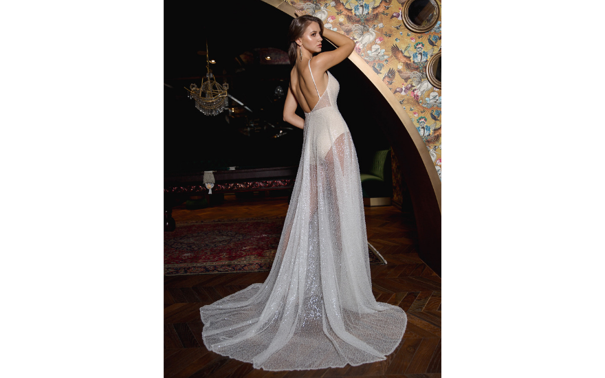e198786034f4 Sheer Sparkly Wedding Dress by Luna Willow Bridal