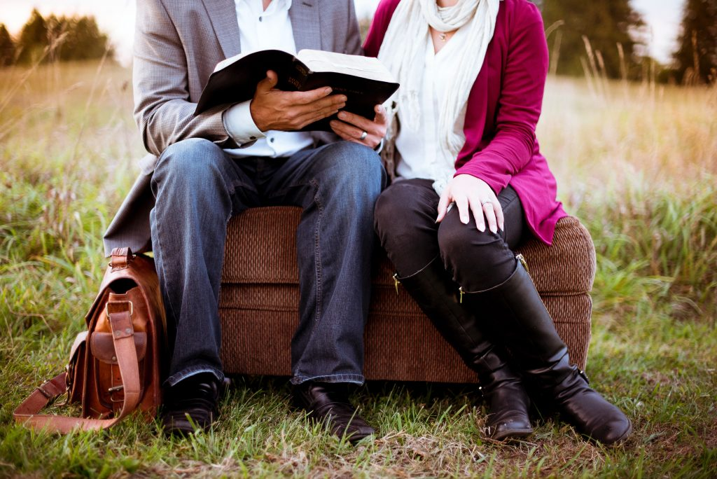 modern wedding readings - couple reading together
