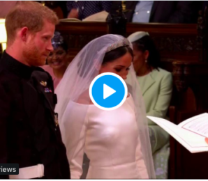 WATCH: The Adorable Moment Prince Harry and Meghan Markle are Married
