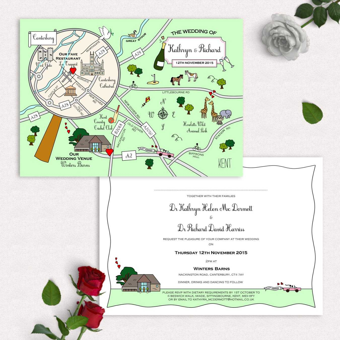 Maps For Wedding Invitations: Wedding Stationery In Buckinghamshire